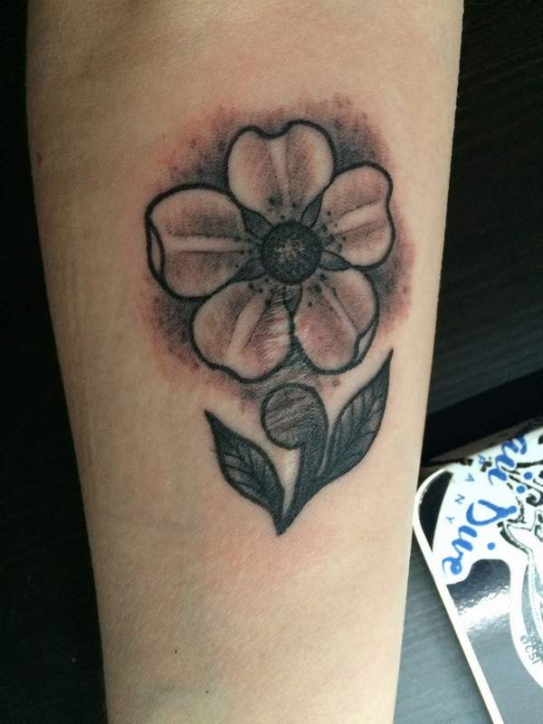 semicolon flower tattoo ideas