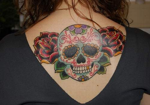 Beautiful Skull Tattoo Idea