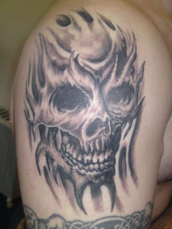 Skull Fire Tattoo