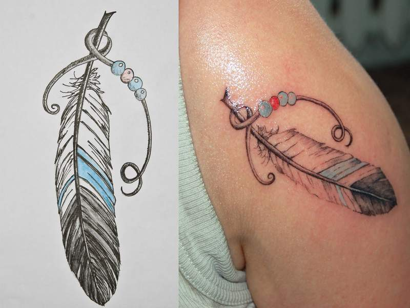 Amazing Feather Tattoos Designs For Man And Women