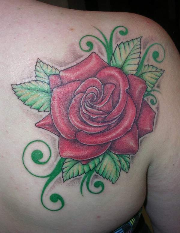 my rose finished tattoo
