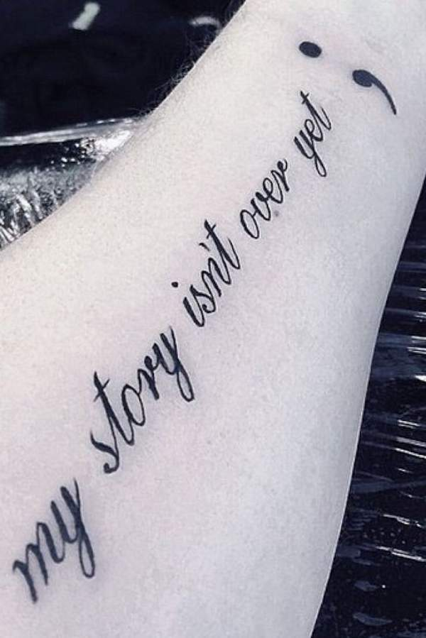 The Amazing Semicolon Tattoo For Every One