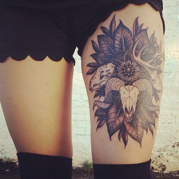 thigh tattoo for women