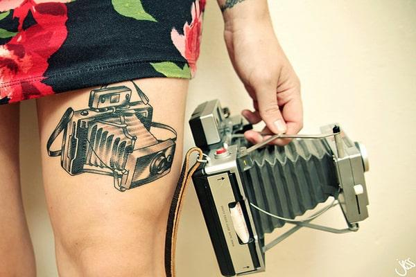 Camera-thigh Tattoo