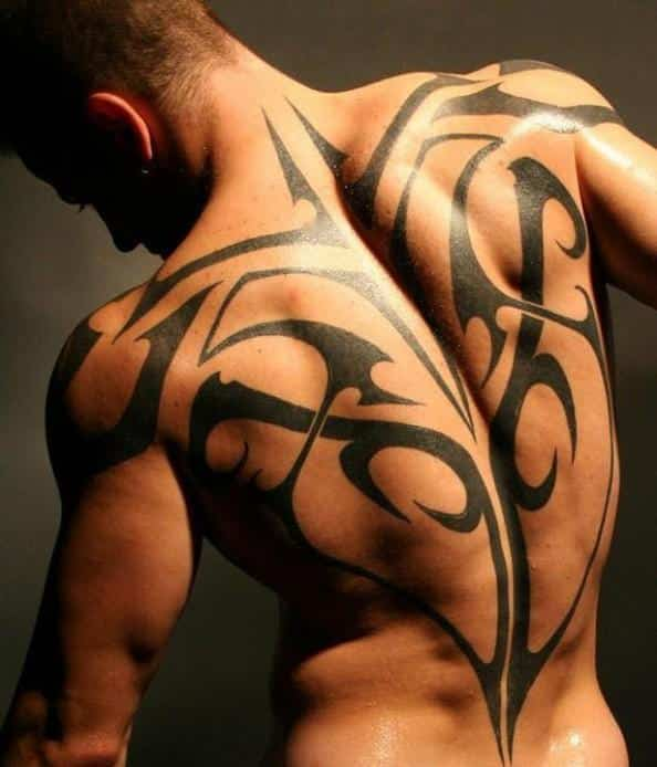 tribal tattoo back tattoos for men