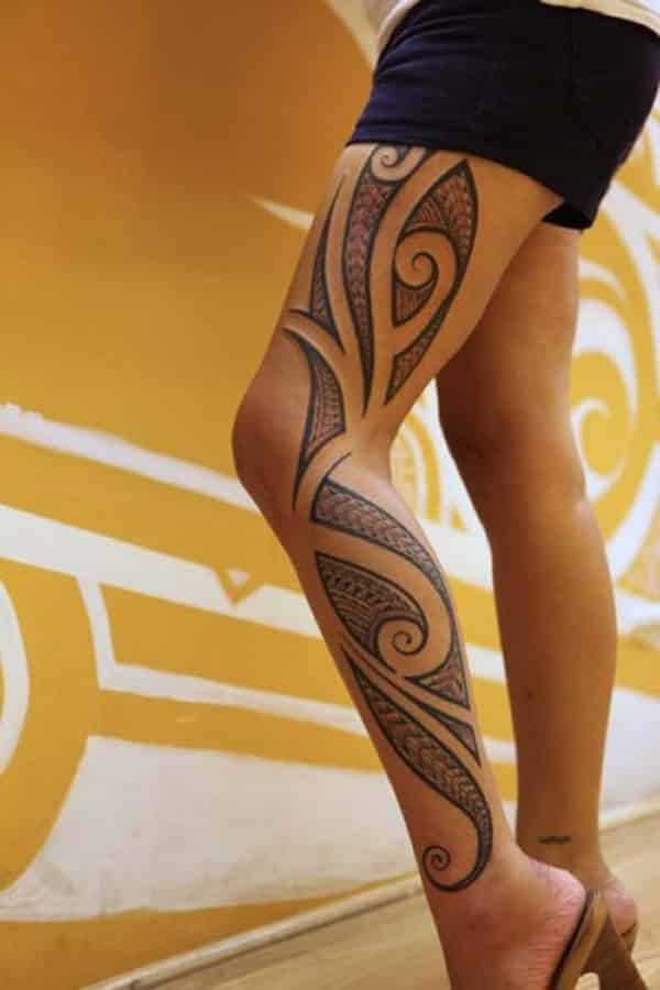 tribal tattoos for women tirbal thigh tattoos