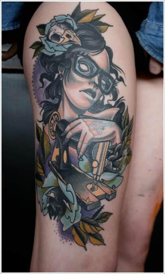 thigh-tattoo for women