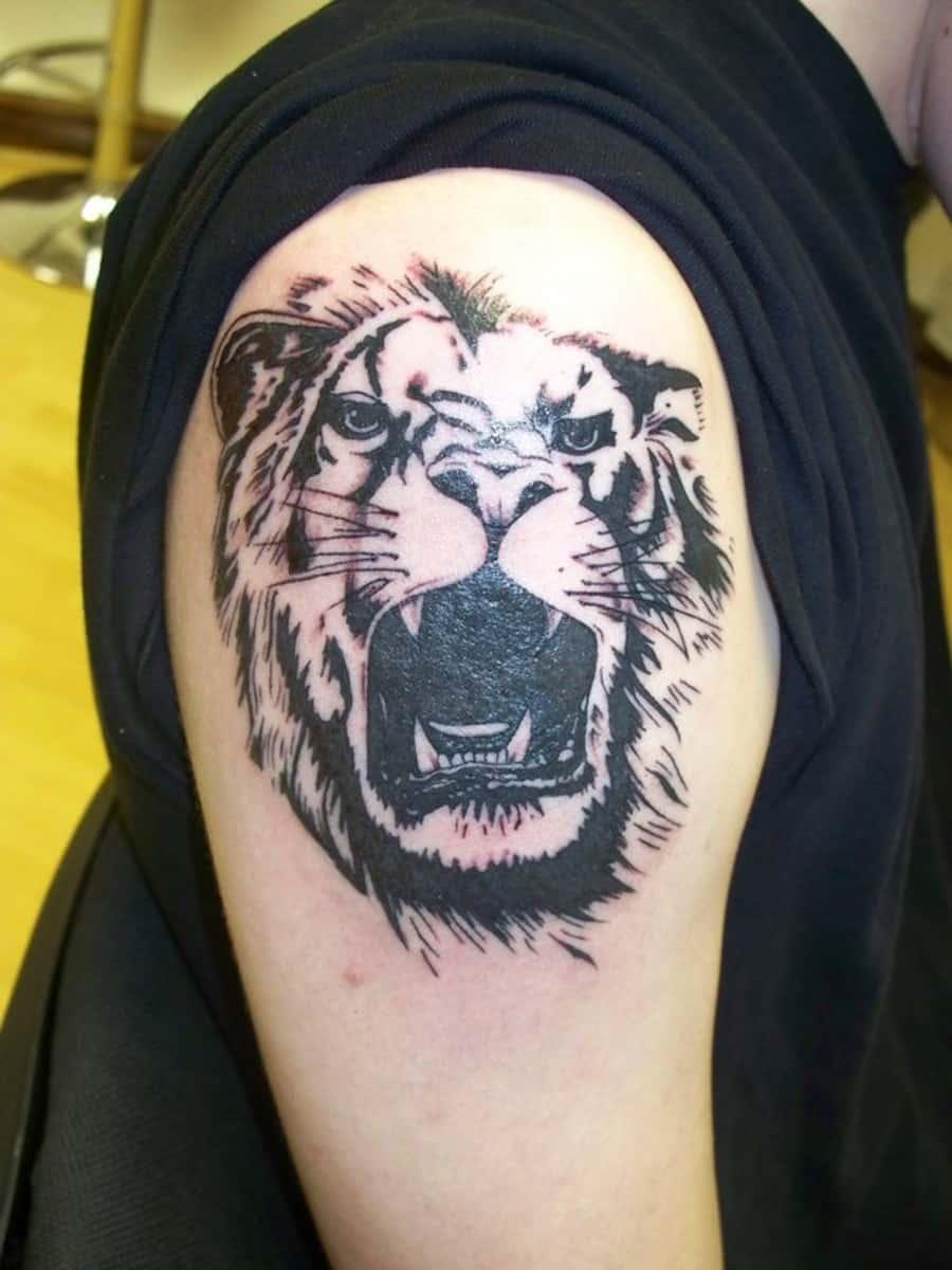 cool leo tattoos