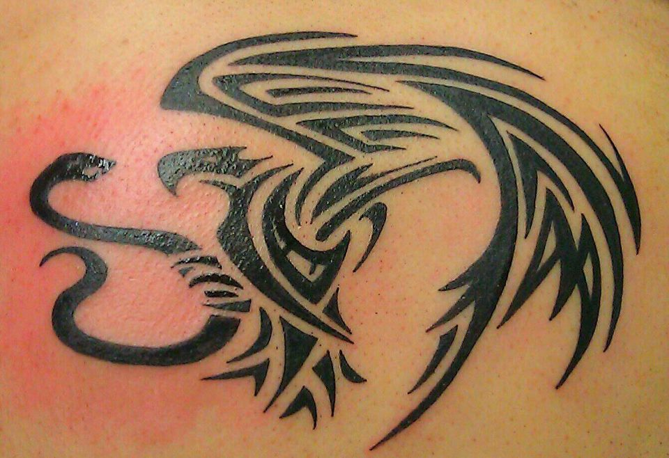 Mexican-Eagle-Tribal-Tattoo
