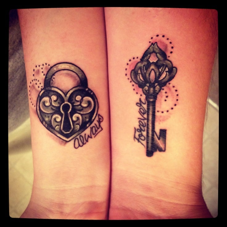 cool couple matching tattoo