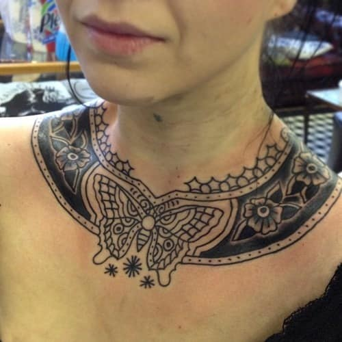Cool-Butterfly-Neck-Tattoo