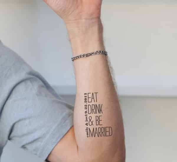 Temporary-Quotes-Tattoo-on-Arm-for-Men