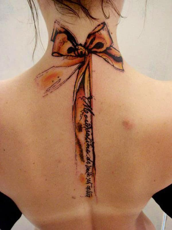 abstarct-back-neck-tattoo-for-girls
