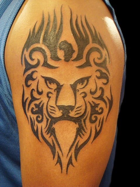 lion tattoo ideas for men arms