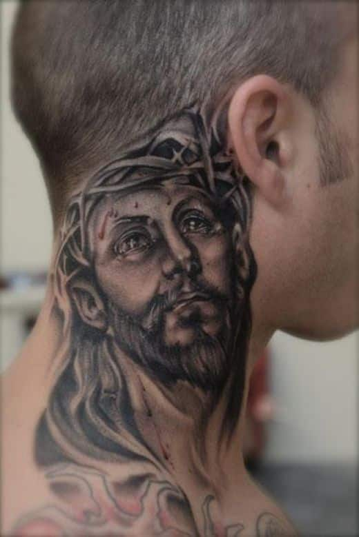 realistic-barbed-jesus-neck-tattoo
