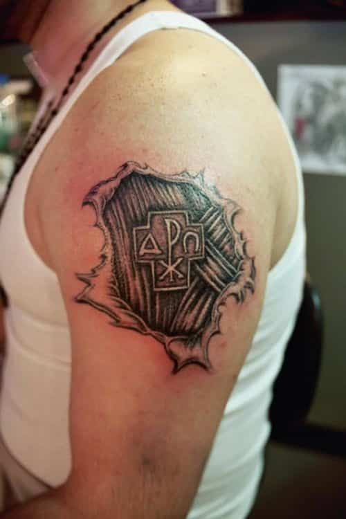 ripped-skin-tattoo-on-man-left-arm