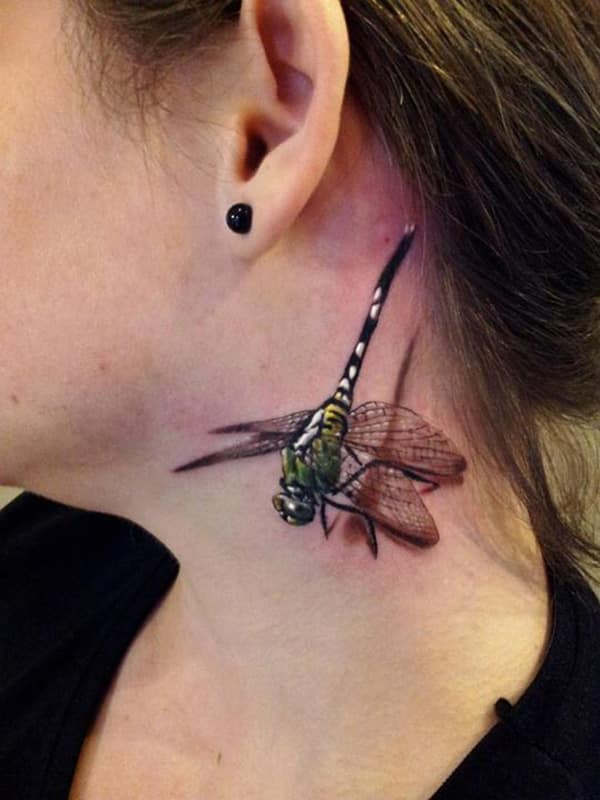 small neck-dragonfly-tattoo