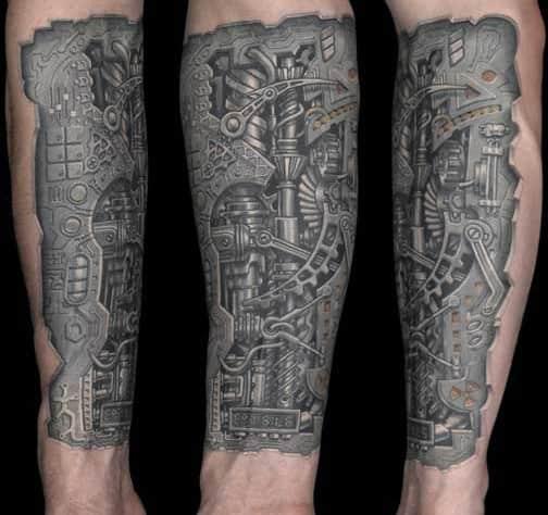 Arm-biomechanical-tattoos