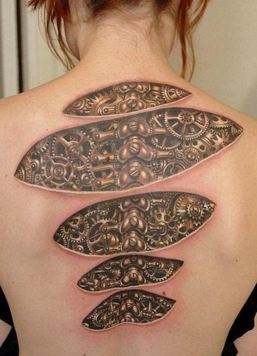 Biomechanical-Tattoo on back