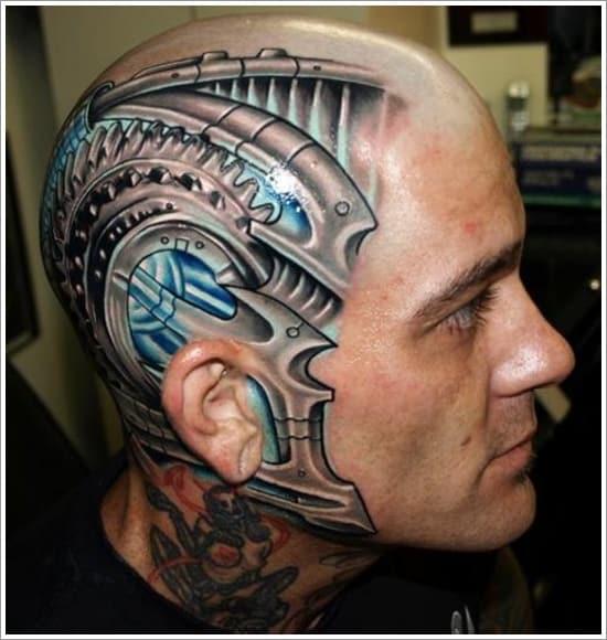 Biomechanical-head-tattoo-design