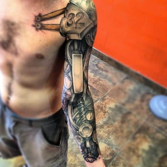 Full-sleeve-biomechanical-tattoo