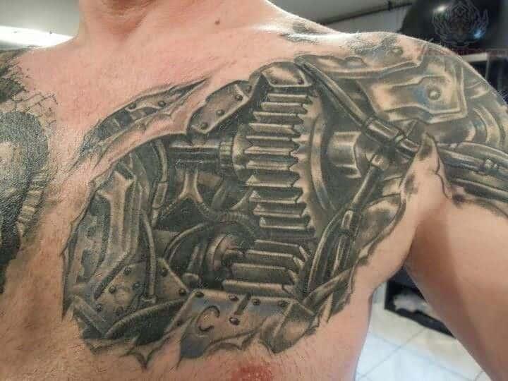 amazing biomechanical tattoos