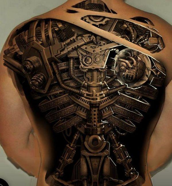 biomechanical-tattoos ideas