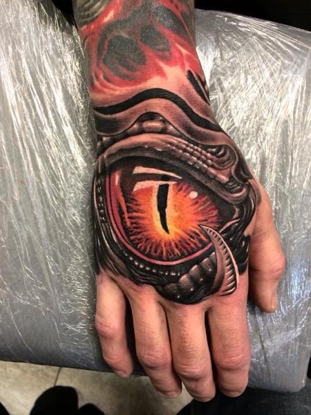 tattoo hand eye biomechanical