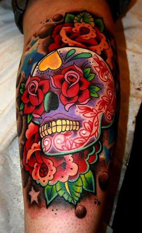 Colored-skull-tattoo