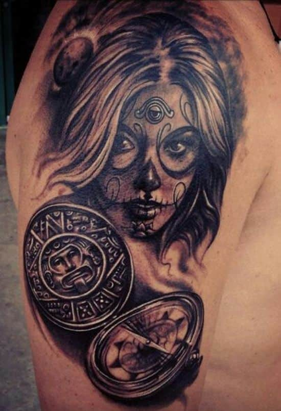 Female-sugar-skull-tattoo-for-men