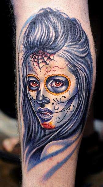 Sugar-Skull-Portrait-Tattoo