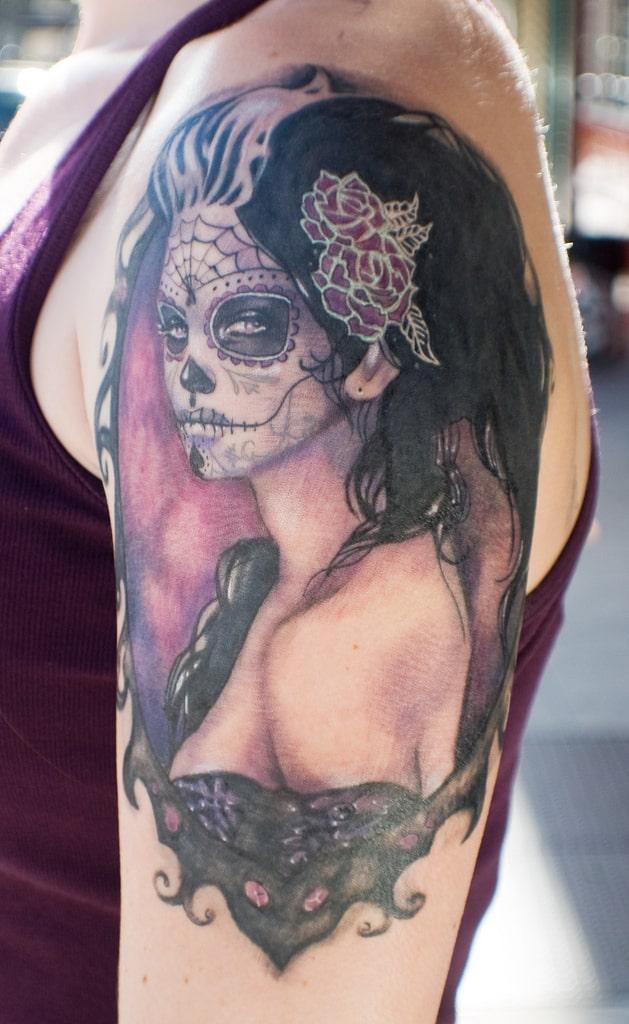 best sugar skull tattoos
