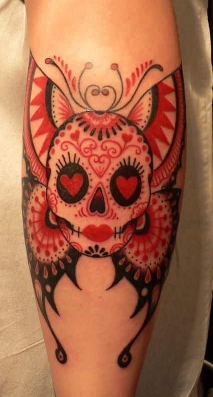 enhanced sugar skull tattoo designs