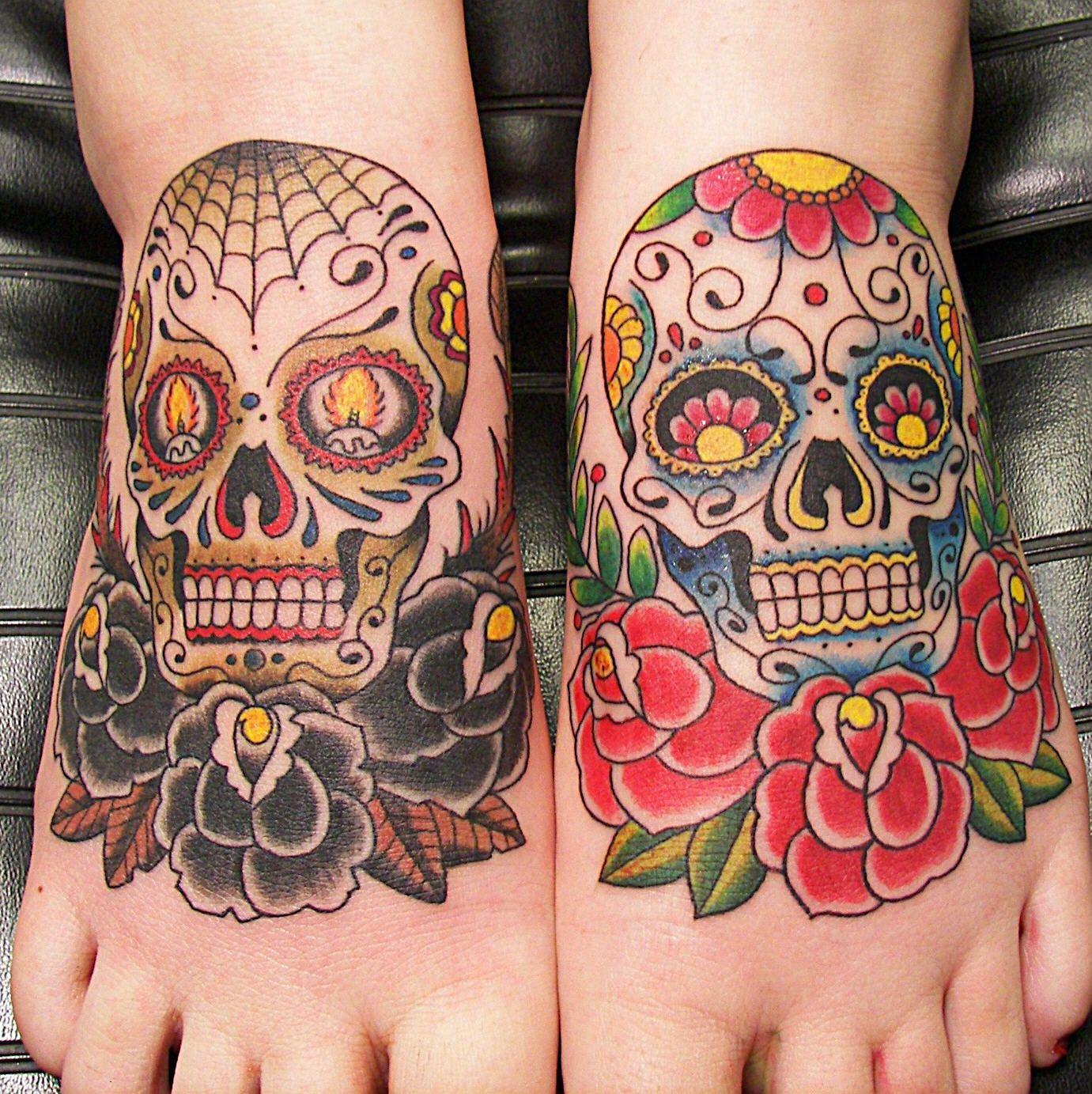 mexican-sugar-skull-tattoos