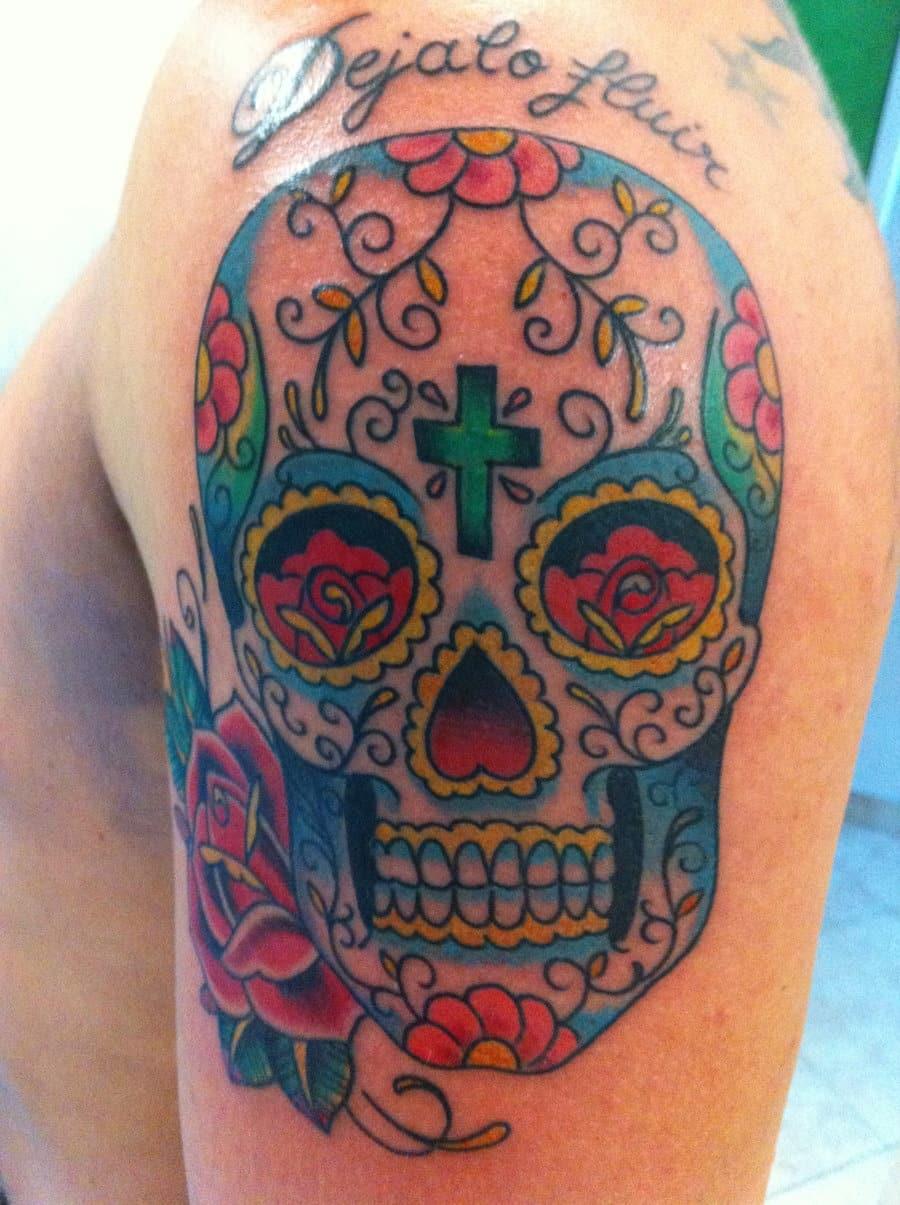 mexican_sugar_skull_color_tattoo