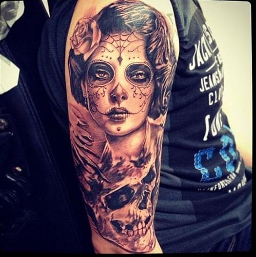 sleeve-sugar-skull-tattoo-designs-for-men