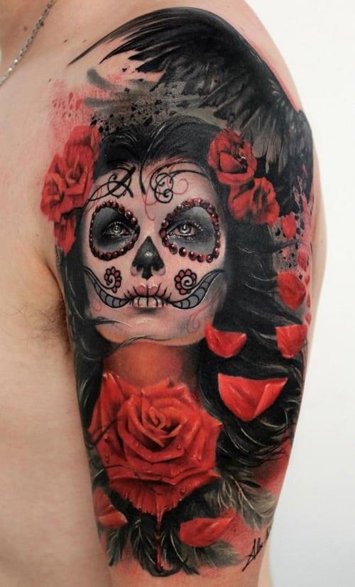 sugar skull tattoo 2017