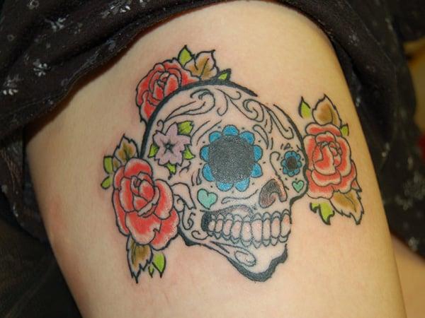 sugar-skull-tattooed