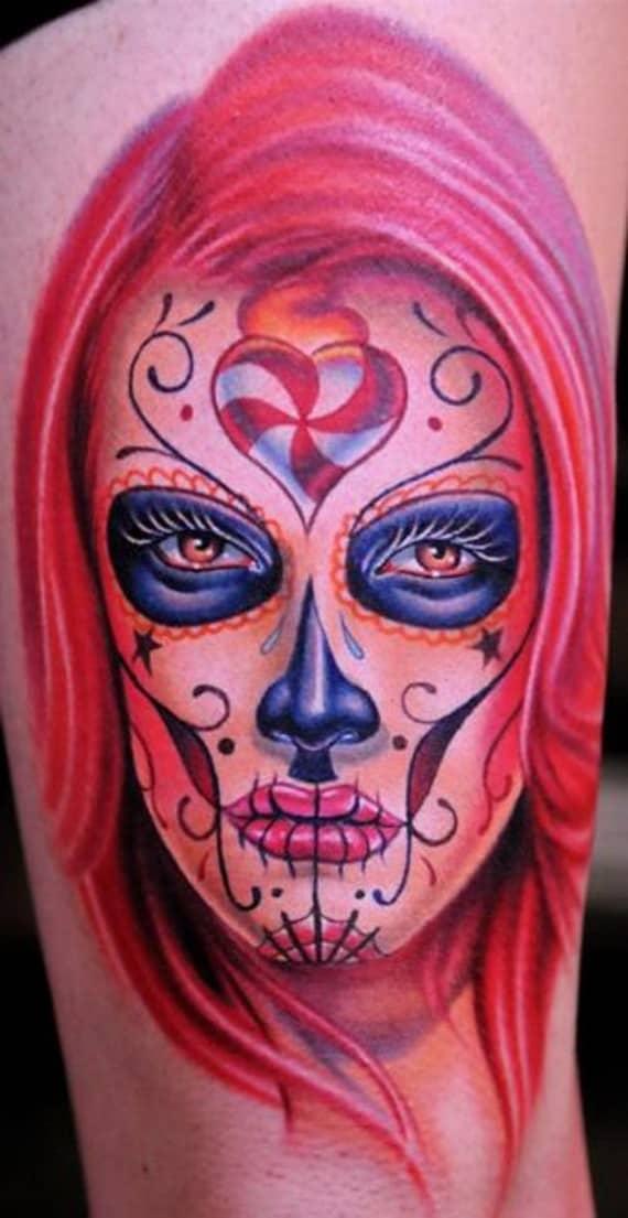 sugar skull tattoos for halloween skull tattoo for fashion