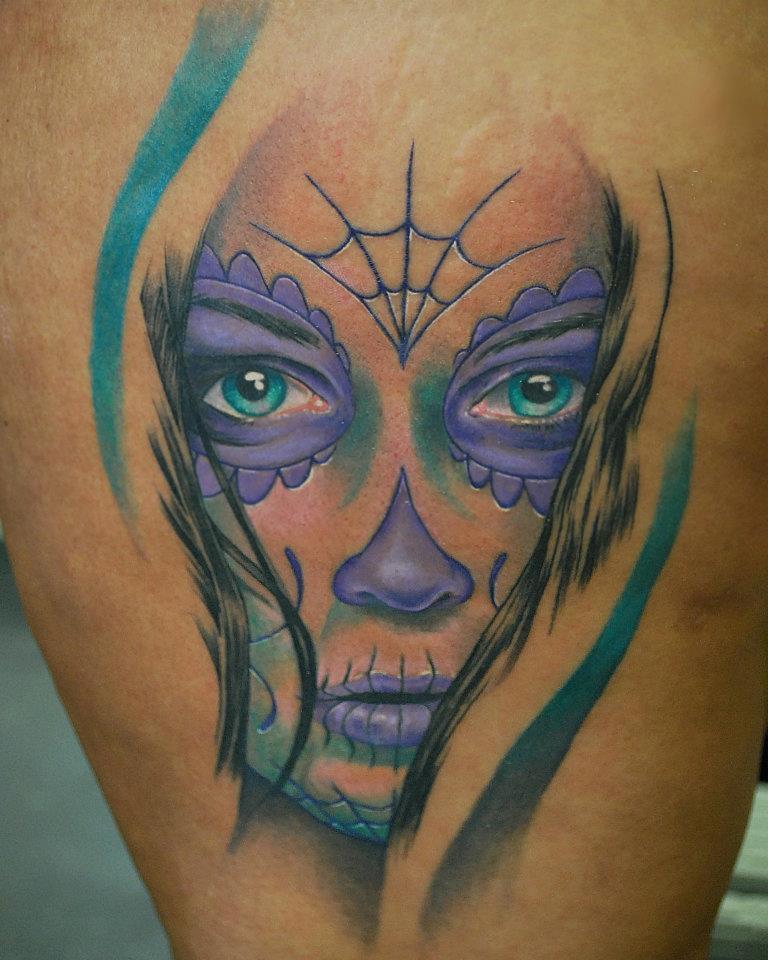 sugar_skull_girl tattoo