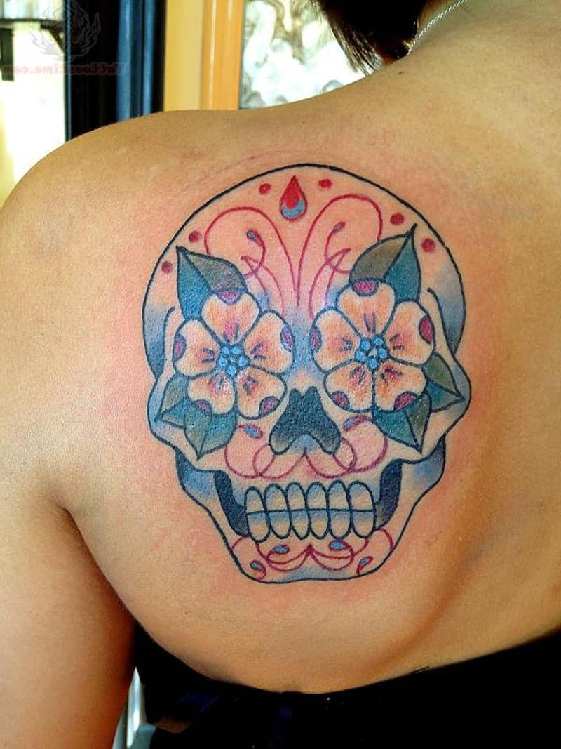 tattoos-ideas-coolest-sugar-skull-tattoo-left-shoulder-blade-temporary-tattoos-female-design-pictures