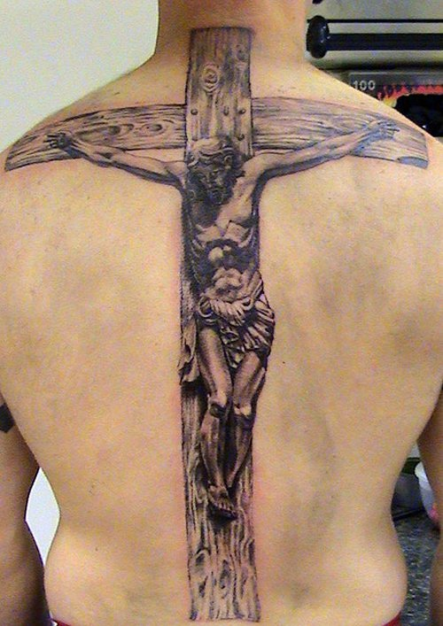 Cross religious tattoos