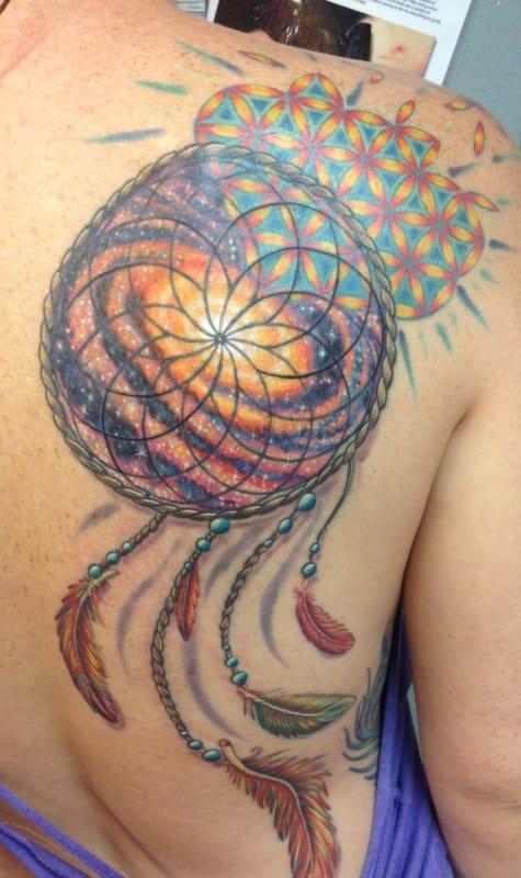 Dream catcher-Tattoo-Design-On-Back