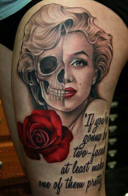 Women-badass-half-skeleton-tattoos