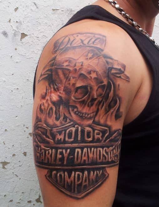 badass-Harley-Davidson-Tattoo-On-Arm