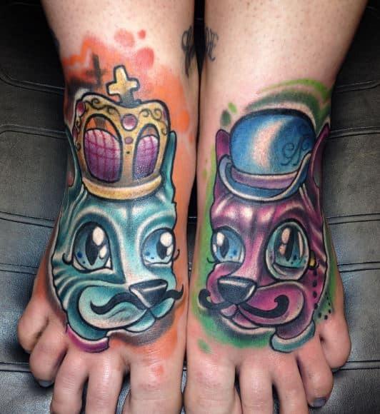 badass foot tattoos