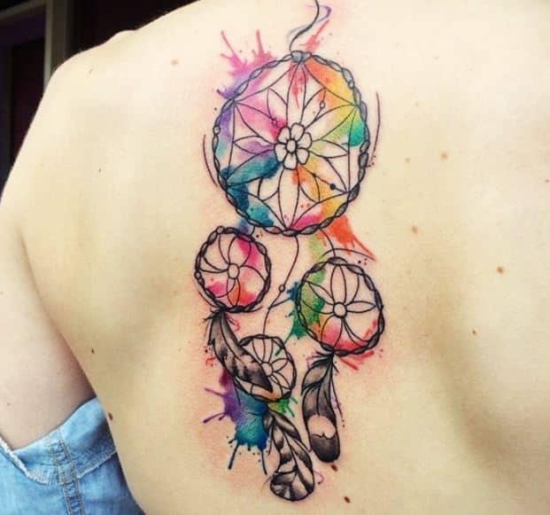 colorful-dream-catcher-tattoo