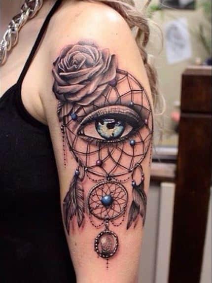 cute-dreamcatcher-tattoo