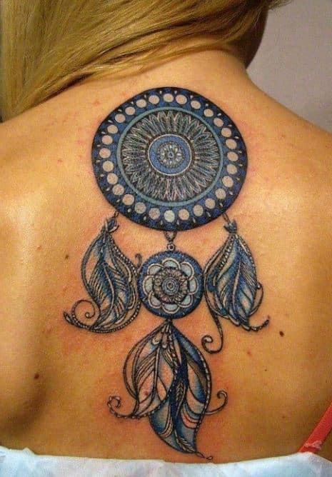 dream catcher-tattoo-back-embroidry