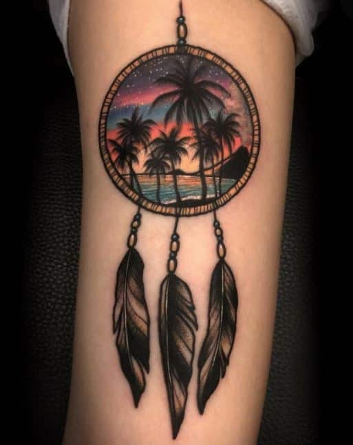 dream catcher-tattoo-on-arms